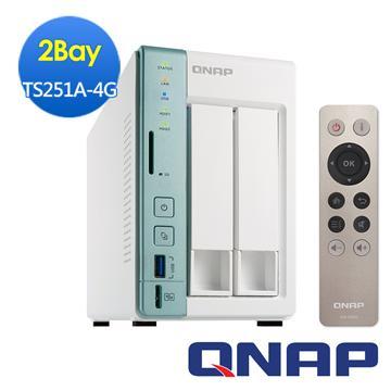 QNAP威聯通 TS-251A-4G網路儲存伺服器(TS-251A-4G)