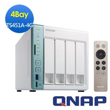 QNAP威聯通 TS-451A-4G網路儲存伺服器