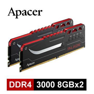 Apacer DDR4 3000 16G(8Gx2)超頻記憶體(B-DDR4-3000-16GB) | 快3網路商城~燦坤實體守護