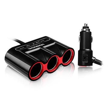 WONDER 車用USB點煙器擴充座(WA-V04E3)