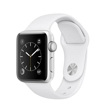 【38mm】Apple Watch Series 1/銀色鋁金屬/白色運動