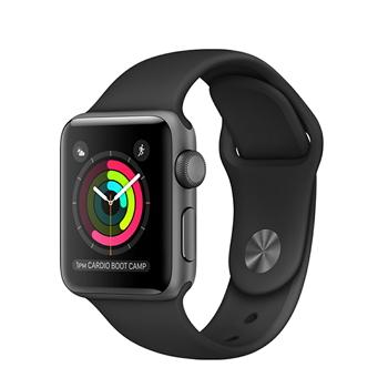 【38mm】Apple Watch Series 1/太空灰色鋁金屬/黑色運動