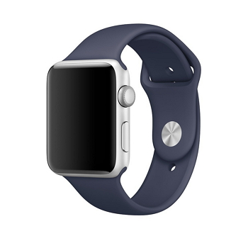 【42mm】Apple Watch Series 1/玫瑰金色鋁金屬/午夜藍色運動