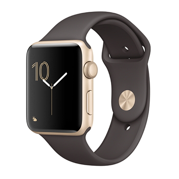 【42mm】Apple Watch Series 1/金色鋁金屬/可可色運動(MNNN2TA/A)