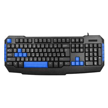 T.C.STAR TCK805有線電競鍵盤-藍