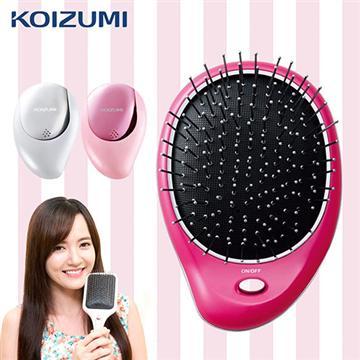 KOIZUMI小泉成器 美髮梳附收納袋-粉紅(KZ-KZB-0020P)
