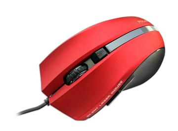 Polar PLM-338有線雷射靜音滑鼠-紅(PLM-338RE)