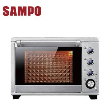 聲寶38L電子雙溫控旋風油切烤箱