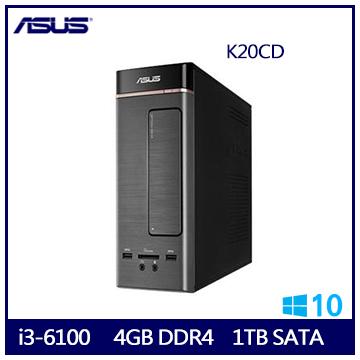 【福利品】ASUS K20CD i3-6100 桌上型電腦(K20CD-0051A610UMT)