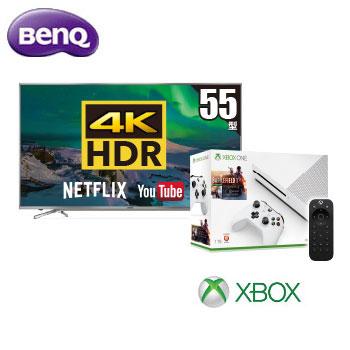 BenQ 55型4K 低藍光LED+XBOX ONE S 1TB戰地風雲 1同捆組(55SY700(視170475))