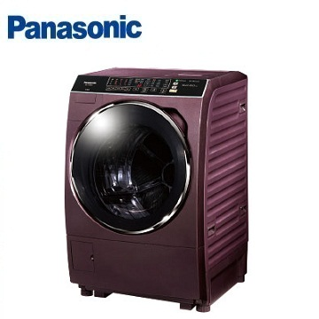 Panasonic 15公斤ECONAVI洗脫烘滾筒洗衣機(NA-V168DDH-V(晶燦紫))