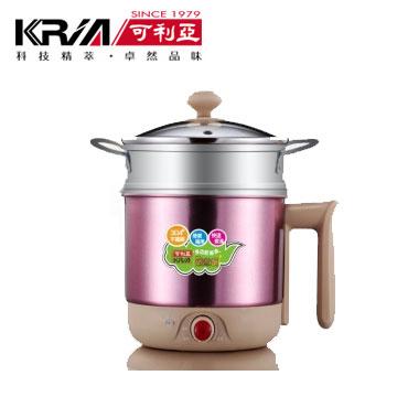 【福利品】可利亞多功能蒸煮美食鍋-粉紅(附不銹鋼蒸籠)