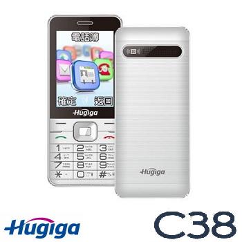 Hugiga C38 3G直立按鍵式手機-白色(C38-白)