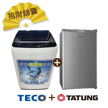 東元 8公斤定頻洗衣機W0822FW+大同 100公升1級單門冰箱(TR-100HT-S)