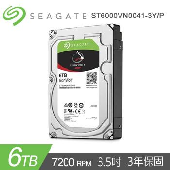 "【6TB】Seagate 3.5"" IronWolf NAS 硬碟"