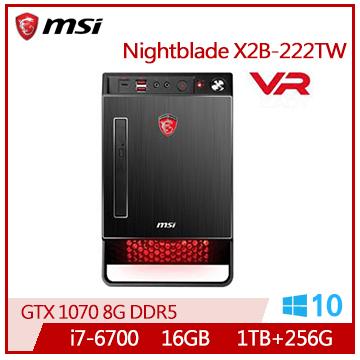 MSI Nightblade Ci7-6700 GTX1070 電競桌上型主機(Nightblade X2B-222TW)