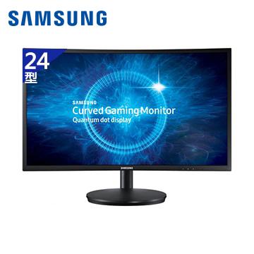 【福利品】【24型】SAMSUNG CFG70电竞曲面液晶显示器(C24FG70FQE)