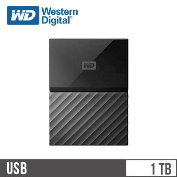 【1TB】WD 2.5吋 行動硬碟My Passport(黑)