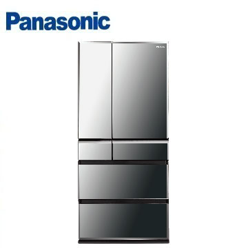 Panasonic 665公升尊爵ECONAVI六門變頻冰箱(NR-F672WX-X1(鑽石黑))