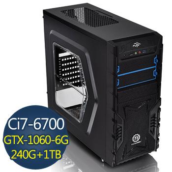 【電競獵豹】-華碩B150M平台組裝電腦(AS-I7N10608G-001)