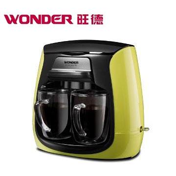 WONDER雙層玻璃杯雙人咖啡機(WH-L03D)