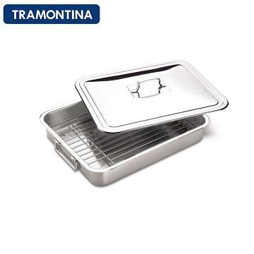 TRAMONTINA 廚房多功能不鏽鋼烤盤(含蓋子)(不鏽鋼烤盤)