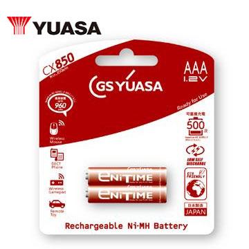 湯淺低自放鎳氫充電電池(4號2入)(AAACX850)