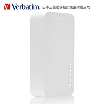 【10400mAh】Verbatim行動電源-白(VBPP64645WH)