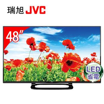 JVC 48型LED液晶顯示器+視訊盒 48E+H