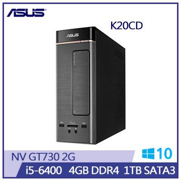 【福利品】ASUS K20CD Ci5-6400 GT730 桌上型電腦(K20CD-0051A640GTT)