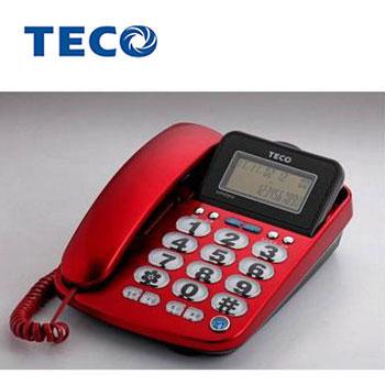 TECO大字鍵來電顯示有線電話(XYFXC012)