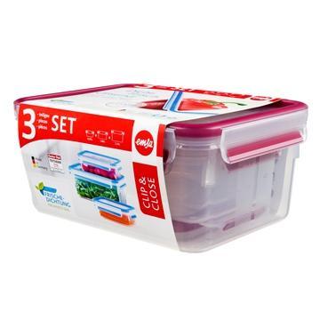 德国EMSA保鲜盒3件组(粉)(517420)