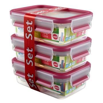 德国EMSA保鲜盒3件组(粉)(517418)
