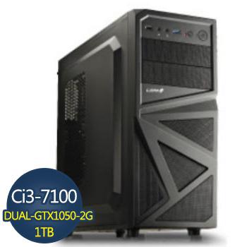 【黑武士】-華碩第7代H110平台組裝電腦(AS-I3710010502G-1K)