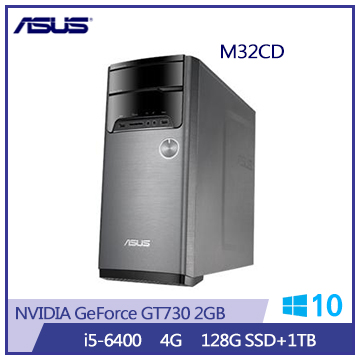 【福利品】ASUS M32CD Ci5-6400 GT730桌上型主機