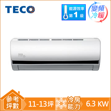 TECO一對一變頻冷暖空調MS63IH-BV