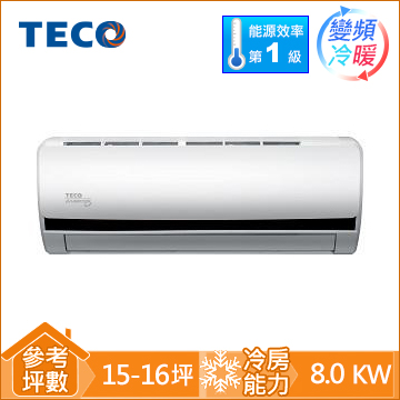 TECO一對一變頻冷暖空調MS80IH-BV
