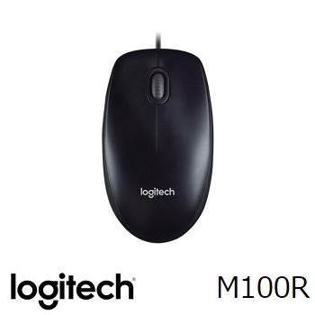 羅技M100r(2017)有線光學滑鼠