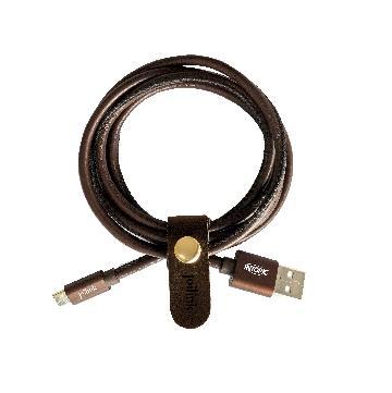 INTOPIC Micro USB皮革充電傳輸線