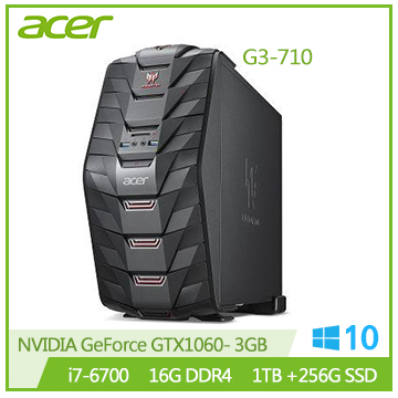 【福利品】Acer G3-710 Ci7-6700 GTX1060 電競桌上型電腦(G3-710 i7-6700 電競機)