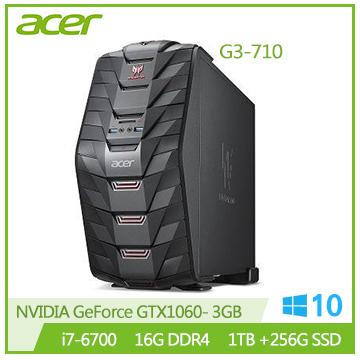 【福利品】Acer G3-710 Ci7-6700 GTX1060 電競桌上型電腦