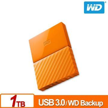 WD 2.5吋 1TB行動硬碟WESN My Passport(橘)