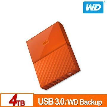WD 2.5吋 4TB行動硬碟WESN My Passport(橘)