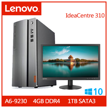 【福利品】LENOVO IdeaCentre 310 A6 1TB桌機+【22型】LENOVO LI2215s TN液晶LCD