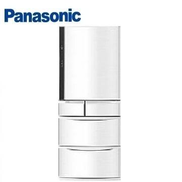 Panasonic 411公升旗艦ECONAVI五門變頻冰箱(NR-E412VT-W1(晶鑽白))