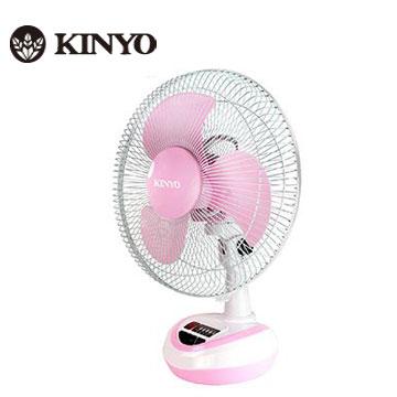 KINYO 12吋彩色充電風扇