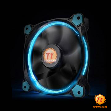 曜越Riing 14CM LED高風壓水冷排風扇(藍光)