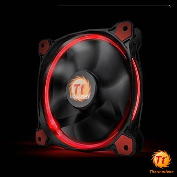 曜越Riing 14CM LED高風壓水冷排風扇(紅光)