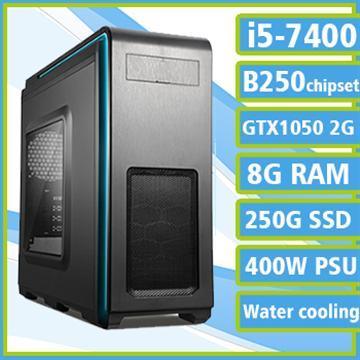 [冰雪風爆] - 七代Ci5水冷B250平台GTX1050獨顯組裝電腦(電競SSD)