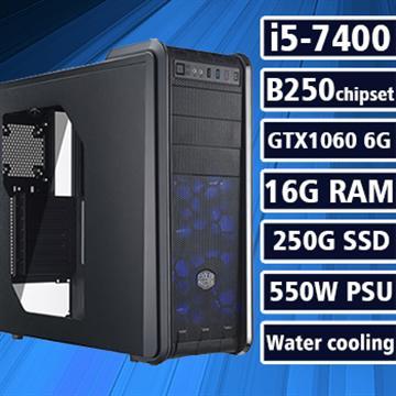 [狂風霸主] - 七代Ci5水冷B250平台GTX1060獨顯組裝電腦(電競SSD)